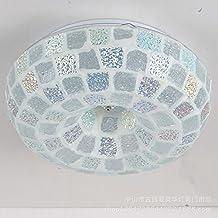 Schlafzimmer Mit LED Deckenleuchte Mediterran Hyun Lichter Balkon Lampen  Lampen Mosaik Glas, Rund, 30cm