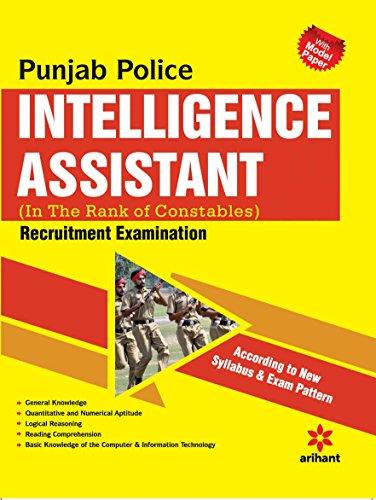 Punjab Police Intelligence Assistant Recruitment Examination