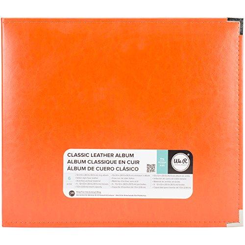 Memory Album Scrapbooking (We R Memory Keepers American Crafts 660907Classic D-Ring Scrapbooking Album, 12Zoll x 12Zoll, Orange Soda)