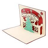 Kofun biglietto d' auguri con busta, albero di Natale 3D Pop Up Merry Christmas biglietto di auguri di compleanno Capodanno invito carta di carta fatta a mano artigianale regalo per San Valentino, festa
