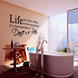 VivReal Black LIFE Quote Letter Words Room Art Mural Wall Sticker Decal [Kitchen & Home]