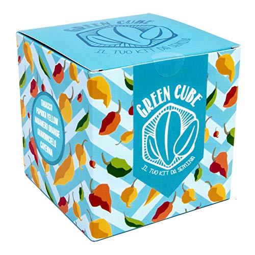 green cube, il tuo kit da semina di peperoncini - 5 diverse varietà di peperoncini piccanti da coltivare. perfetta idea-regalo !