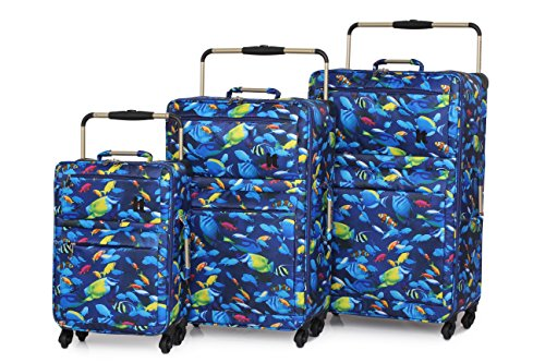 it-worlds-le-plus-leger-sub-0-g-ultra-leger-baggage-tropcial-poisson-imprime-set-of-3