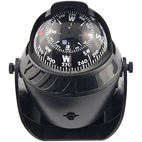 Shaddock pesca® LED luz mar electrónicos marinos brújula Digital barco caravana camión coche Brújula de navegación, color negro