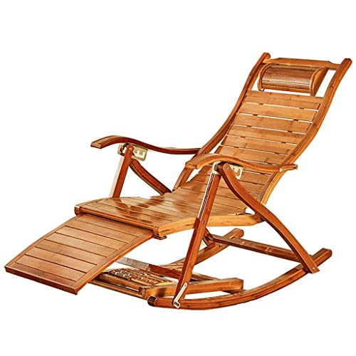 Miya Schaukelstuhl Erwachsenen Freizeit Stuhl Siesta Freizeit Haus Balkon Falten Einzelne Büro Massivholz Ältere Bambus Lounge Sessel -