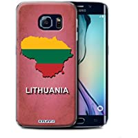 Stuff4 Hülle / Hülle für Samsung Galaxy S6 Edge / Litauen/Litauisch Muster / Flagge Land Kollektion