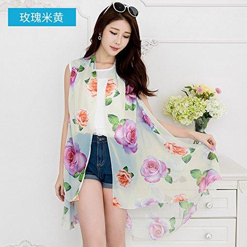 RENYZ.ZKHN Silk Scarves In Autumn And Winter, Female Magic Multi Function Sunshade Shawl 105*170Cm,F
