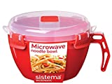 Sistema 1109 Microwave Noodle Bowl, 940 ml Assorted Colors
