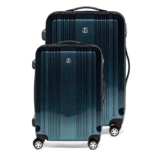 FERGÉ Zweier Kofferset CANNES Handgepäck & Koffer XL Hartschale | 2 Trolley-Hartschalenkoffer 4 Zwillingsrollen (360°) | Koffer royal-blau |...