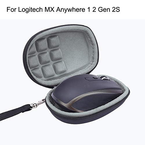 Wokee Travel Nylon Tasche Schutz Hülle für Logitech MX Anywhere 1 2 Gen 2S kabellose Mobile Maus