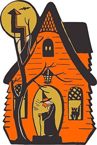 Akachafactory Selbstklebend Wandtattoo Fete Deco Halloween Auto Haus SORCIERE Kinder (Deco-de Citrouille Halloween)
