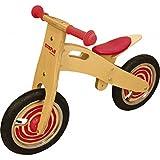 Ulysse 22006 - Bicicleta de madera sin ruedas para aprendizaje, color rojo