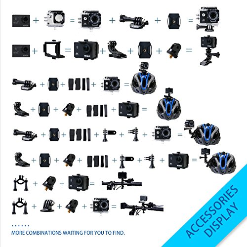 WiMiUS Action-Kamera 4K Action Cam 1080P 16MP Sport Action Kamera Wasserdichte Helmkamera - 6