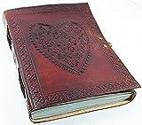 Shakun Leather Klassisches Vintage Retro Leder Tagebuch, Reise- und Notizbuch, 7 x 5 Zoll, NEU