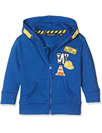 Blue Seven Mini Jungen Kapuzen Sweatjacke Mit Tasche Und Aufnähern, Sweat-Shirt à Capuche Bébé Garçon