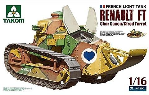 Char Renault - takom Tak modèle de 1001–Kit French Light