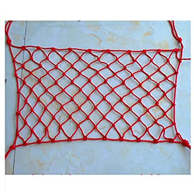 Decoration net Garden Decoration Net, Stairs Protection Net Red Rope Net Child Safety Net Fence Net Weaving Net Climbing Hammock Swing Net 2m3m5m6m Protective net (Size : 10 * 10M(33 * 33ft))