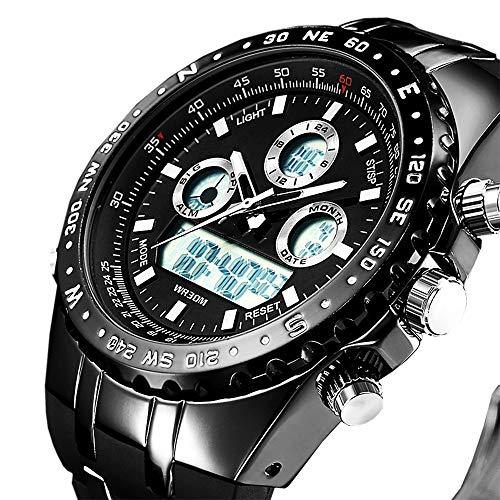 AWRYS 2019 Chronograph Sport Herrenuhren Led Digital Quarz Uhr Männliche Uhr