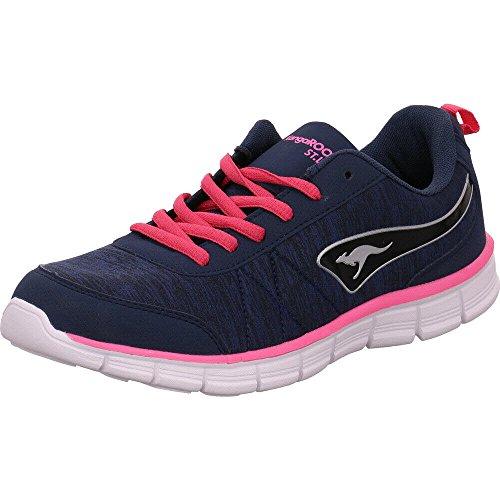 KangaROOS Damen KR-Run Ref Sneaker, Blau (Dk Navy/Daisy Pink), 39 EU (Daisy Navy)