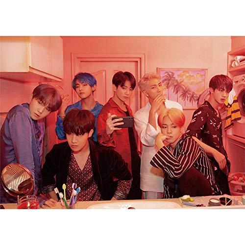 ALTcompluser BTS [ Map of the Soul:Persona ] A3 Poster Foto Plakat, Bangtan Boys Jungkook/Jimin/V/Suga/Jin/J-Hope/Rap Monster Photo Wanddekoration, Beste Geschenk für BTS Army(Version 2 BTS)