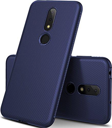 GeeMai Nokia 6.1 Plus Hülle, [Blau Soft Hülle] Ultra Thin Silikon Schutzhülle Tasche Soft TPU Hüllen Handyhülle für Nokia 6.1 Plus Smartphone