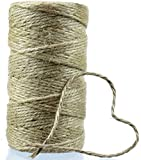 100m de Cordel de Yute Original de MountainGoods 1mm | 3mm | ideal para manualidades, decoración, etc. | muy resistente a desgarros | Cuerda de Yute