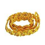 Baoblaze Glänzende Paillette Paillettenbesatz Applikation Paillettenband Paillettenborte Für Stoffkleid Verschönerung - Gold