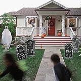 TOMATION Decorazioni di Halloween da Interno,Pietre Tombali di Halloween (40X21CmSet di 4Pezzi) - Feste Accessori per Ciondoli Forniture per Bar da Giardino Casa Infestata Stanza Segreta Expert
