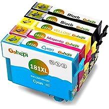 Gohepi 18XL Compatibile per Cartucce Epson 18XL 18 T1811 T1812 T1813 T1814, 2 Nero/Ciano/Magenta/Giallo 5-Pacco (Magenta Originale Della Testina Di Stampa)