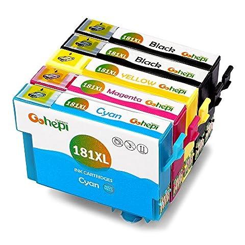 Gohepi 18XL Compatible pour Cartouches Epson 18XL 18 T1811 T1812