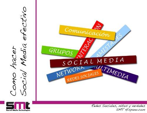Como hacer Social Media efectivo (Redes Sociales Mitos y Verdades nº 1) por Daniel Pérez Pérez