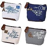 BETOY 4 pcs mini Portamonete Donna Sacchetto Monete Borsa Tela Vintage portafoglio da donna borsa portamonete piccolo carino