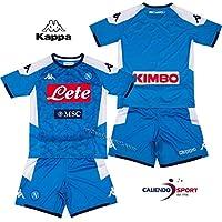 SSC Napoli, Kit Gara Home Bambino 2019/2020, Blu, 6 anni