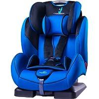 Caretero TERO-2673 - Asiento infantil para coche (de 9 a 36 kg, sistema de sujeción de 5 puntos, respaldo reclinable y reposacabezas)