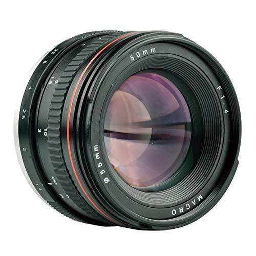 manuelles objektiv Professionelle 35mm f2.0 manueller fokus porträtobjektiv Objektiv kameraobjektiv für Canon DSLR Digitalkamera Kameras optisches Glas Beschichtung für SLR manuelles Objektiv (Black)