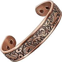 Magnetisches Damen-Armband aus reinem Kupfer mit 6 Neodym-Magneten zur Schmerzlinderung bei Arthritis und Schmerzlinderung... preisvergleich bei billige-tabletten.eu