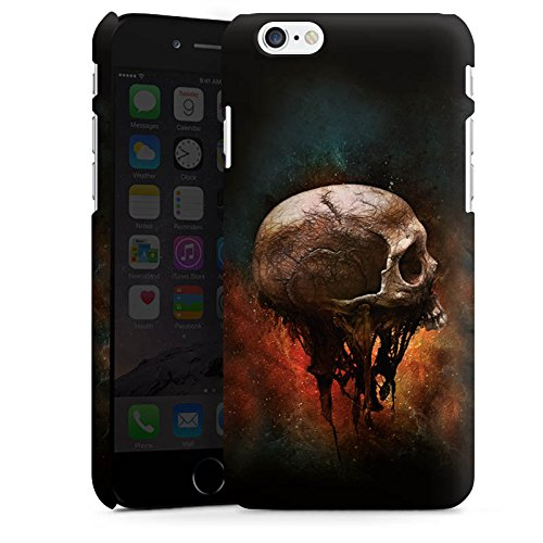 Apple iPhone X Silikon Hülle Case Schutzhülle Skull Halloween Scream Premium Case matt