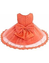 Freebily Vestido de Princesa Elegante para Niñas Bebés Vestido Infantil de Bautizo ...