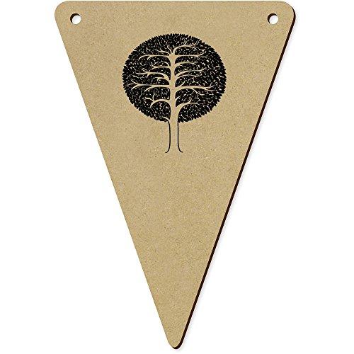 5 x 140mm 'Arbre Rond' Fanions Triangles en Bois (BN00018913)