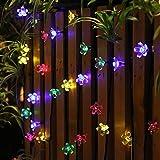 Solar-Gartenleuchten, LED Lichterketten, 50 LED, 8 Modi, für Garten, Terrasse, Garten, Haus, Weihnachtsbaum, Parteien, im Freien hängen, wasserdicht, Mehrfarben