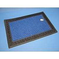 Zerbino tappeto Mouquette Greca 40X60Cm Rettangolare con bordo in gomma
