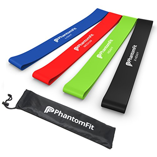 Resistance Loop Bands - Set of 4 Light, Medium, Heavy, and X-heavy Exercise Bands - Best Fitness Band for Ankle, Legs, Knee, or Arm Exercises - Perfect for Physical Therapy Workout, P90x, and Crossfit Training - Best Home Equipment for Men and Women - Lifeline for Getting Fit  available at amazon for Rs.1465