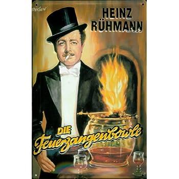 Amazon.de: Blechschild Heinz Rühmann Feuerzangenbowle