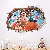 Cartoon Movie Stickers Muraux Pour Chambres D'Enfants 3D Cassé Enfants Chambre Décoration Stickers Muraux Accueil Murale Affiche D'Anniversaire Cadeau