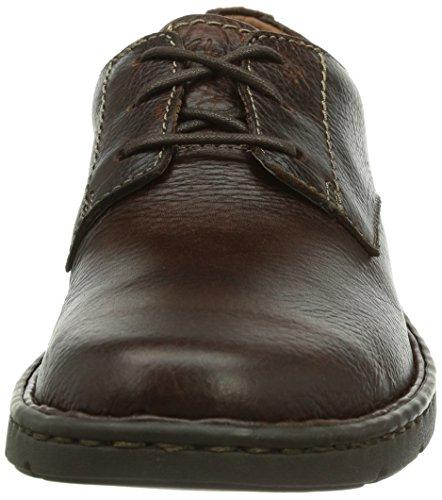 Clarks Stratton Way, Chaussures de ville homme Marron (Brown Leather)