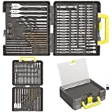 Ryobi Accessory Set complete with Drill bits & Screwdriver bits in handy carrying case (100 Pieces)