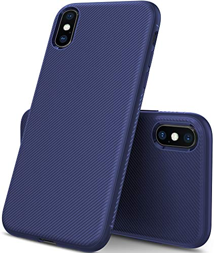 iBetter Coque iPhone XS Plus, Ultra Mince Silicone Cas Solide, Durable, Anti-Chute pour iPhone XS Plus Smartphone