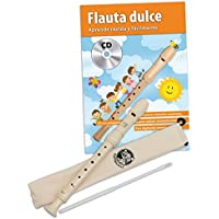 Cascha HH 1500 ES - Set con flauta dulce soprano y libro de flauta en español y CD