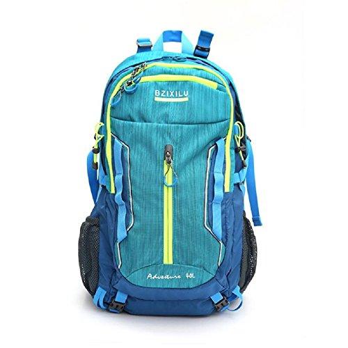 LJ&L Outdoor Bergsteigen Tasche, Nylon Material praktische Verschleiß-resistent, Reise-Rucksack, 40-Liter-Hochleistungs-Multifunktions-Paket Männer und Frauen universal A