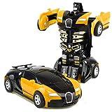 Giocattoli per Bambini Trasformatori Robot Auto Dual Mode 360 Rotazione Stunt Auto